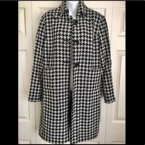 Focus 2000 Houndstooth button down trench coat